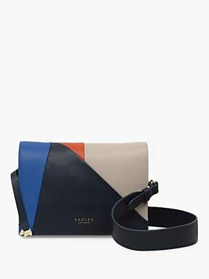 Radley Haven Street Patchwork Leather Cross Body Bag, Dark Blue/Multi