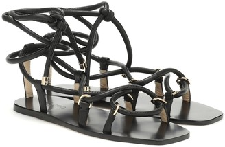 Jimmy Choo Aziza Flat leather sandals