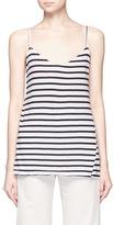 Bassike Stripe V-neck jersey singlet