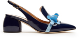 Anya Hindmarch Apex patent-leather slingback pumps