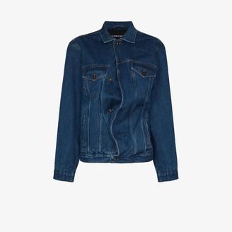 Y/Project Oversized Asymmetric Denim Jacket