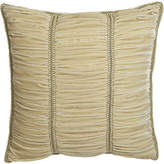 Sweet Dreams Alessandra Ruched Velvet European Sham with Gimp Trim