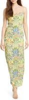 Alice + Olivia Harmony Floral Maxi Slipdress