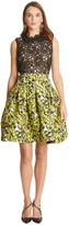 Oscar de la Renta Pressed Flowers Matelassé Full Skirt