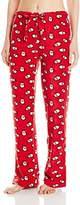 Intimo Women's Zebra-Print Microfleece Pajama Pant