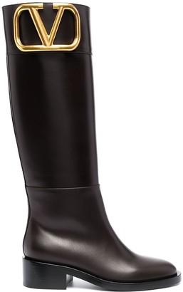 Valentino Supervee low-block heel boots