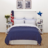 Lexington Icons American Country Pinpoint Check Duvet Cover - Navy - King