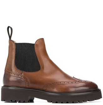 Doucal's Chunky-Sole Brogue Boots