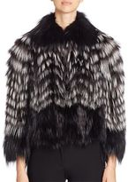 Burberry Denistone Fox Fur Jacket