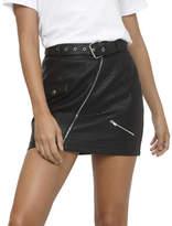 MinkPink Attitude Biker Skirt
