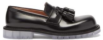 Bottega Veneta Transparent-sole Leather Loafers - Black