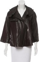 Proenza Schouler Leather High-Low Jacket