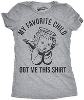 Heather Gray 'My Favorite Child Got Me This Shirt' Fitted Tee