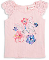 Flapdoodles Girls 2-6x Sequined Butterfly Tee