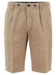 BOSS Tapered-fit shorts in pure linen with drawstring waist