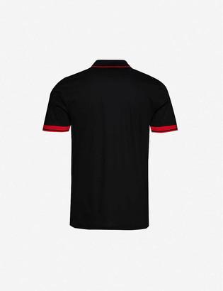 HUGO BOSS Graphic-print embroidered cotton-piqué polo shirt