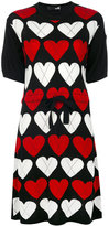 Love Moschino heart dress - women - Acrylic/Wool - 38