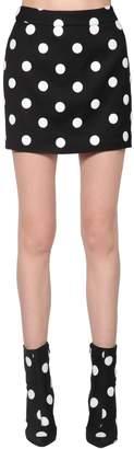 Filles a papa Polka Dot Print Viscose Blend Mini Skirt