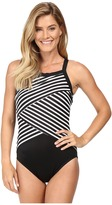 Miraclesuit New Directions Color Block High Neck One-Piece