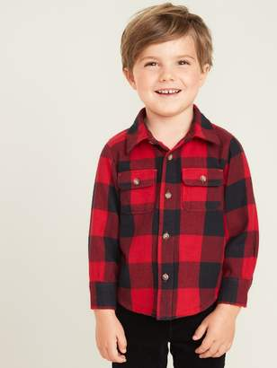 Old Navy Buffalo-Plaid Flannel Utility Shirt for Toddler Boys
