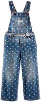 Osh Kosh Dot Denim Overalls (Baby) - Blue-3 Months