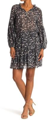 Love Stitch Floral Tiered Dress