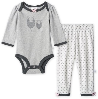 Just Born Baby Girl Lil' Lamb Organic Bodysuit and Pant Set