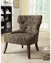 Acme Claribel Leopard Fabric Accent Chair