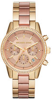 Michael Kors Ritz Two-Tone Stainless Steel Chronograph Bracelet Watch