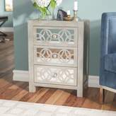 Willa Arlo Interiors Hubert Mirrored 3 Drawer Accent Chest