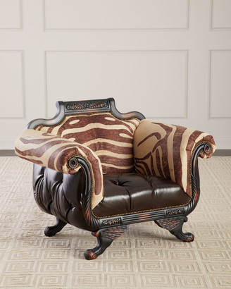 Old Hickory Tannery Meyer Tufted Leather & Hair on Hide Chair