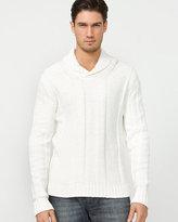 Le Château Tape Yarn Shawl Collar Sweater