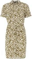 Dorothy Perkins Khaki Animal Print Shirt Dress