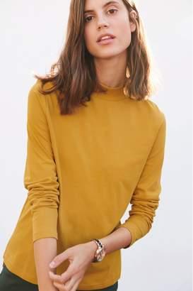 Next Womens Ochre High Neck Long Sleeve Top - Yellow