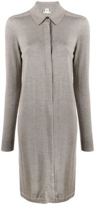 Hermes Pre-Owned Knitted Shirt Dress
