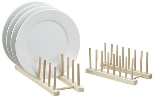 Crate & Barrel Wooden Plate Racks