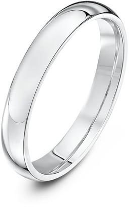 Theia Palladium 950 Super Heavy - Court shape 3mm Wedding Ring - Size K