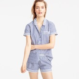 J.Crew Striped pajama set in end-on-end cotton