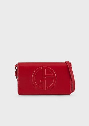 Giorgio Armani Leather Smartphone Case With Embossed Logo