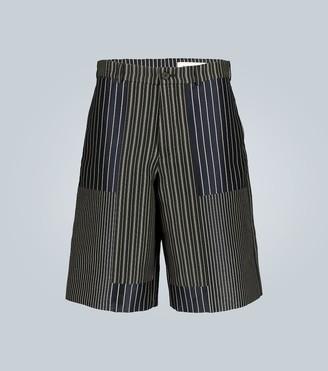 Alexander McQueen Paneled knee-length shorts