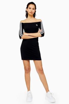 adidas Black Bardot Dress by