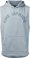 The Upside logo print hoodie - men - Cotton/Polyester/Spandex/Elastane - M