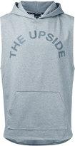 The Upside logo print hoodie - men - Cotton/Polyester/Spandex/Elastane - XS
