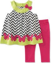 Kids Headquarters 2-Pc. Butterflies Tunic & Capri Leggings Set, Baby Girls (0-24 months)