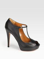 Gucci Betty Peep Toe T-Strap Sandals