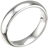 18ct White Gold 4mm Super Heavy Court Ring