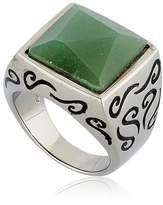 Marco Dal Maso Ara Engraved Ring With Aventurine
