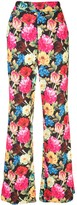 Alice + Olivia Alice+Olivia floral print wide-leg trousers
