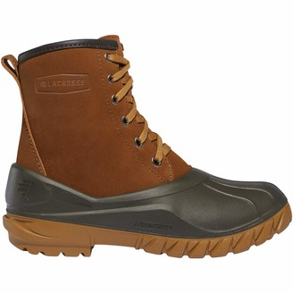 """LaCrosse Women's Aero Timber Top Lace Up 8"""" Rustic Brown Shearling Outdoor Boot"""
