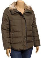 Old Navy Women's Plus Frost Free Faux-Fur Trim Jackets